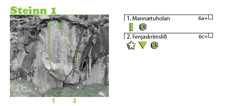 Fyrsti steinn í Hádegishamri