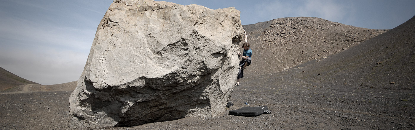 Climbing the lonely boulder