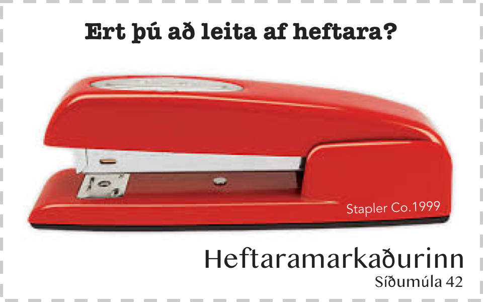 Red stapler ad